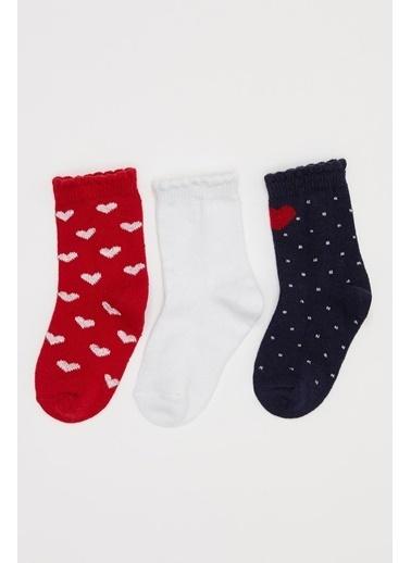 DeFacto Kız Bebek Soket Çorap 3'lü Renkli